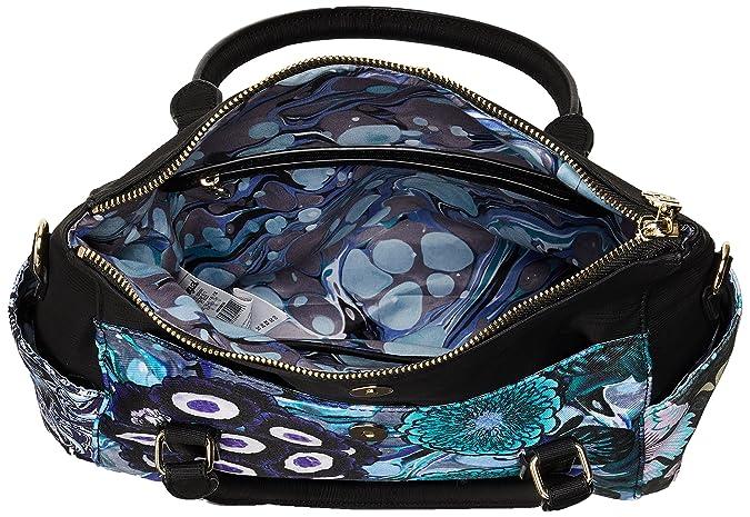 Damen Handtasche Tasche Henkeltasche BORA BORA LOVERTY Blau 18SAXFA1-5013 Desigual T5qc8xK