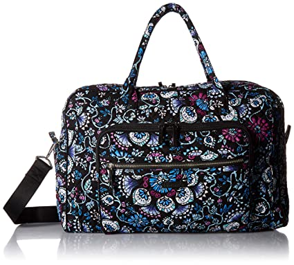 Amazon.com  Vera Bradley womens Iconic Weekender Travel Bag ... 0708b15d94832