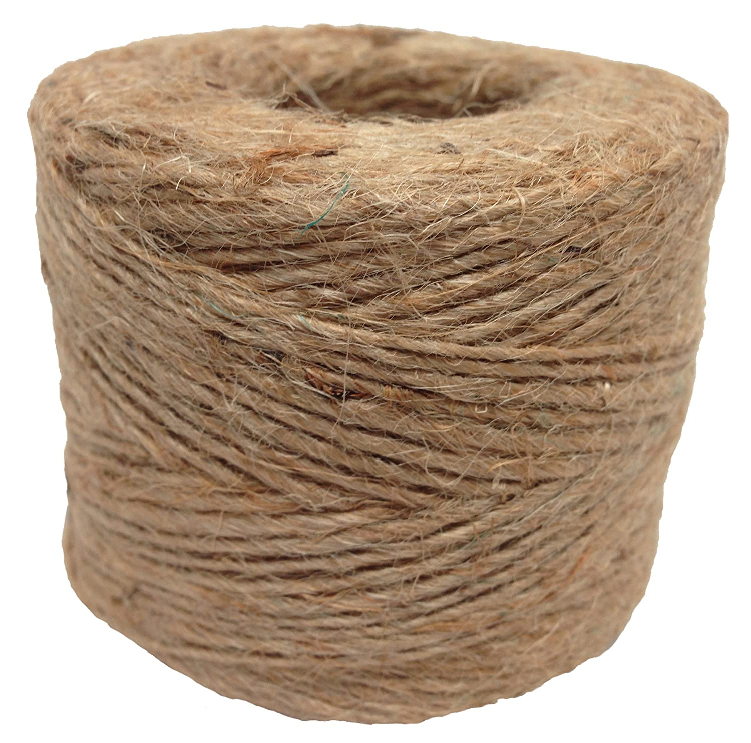 DIY Projects - SGT KNOTS Camping Jute Twine 100/% All-Natural Jute Fibers All-Purpose Crafting Twine Emergency Fire Starter String 1 Pack 285 feet Gardening More for Home Improvement