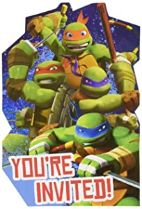 amscan TMNT Invites, Party Favor, 48 Ct.