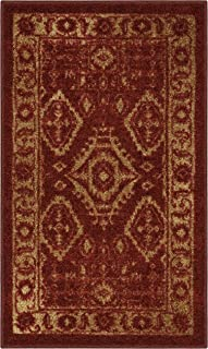 product image for Maples Rugs Georgina Traditional Kitchen Non Skid Accent Area Rug [Made in USA], Red/Gold, 1'8 x 2'10
