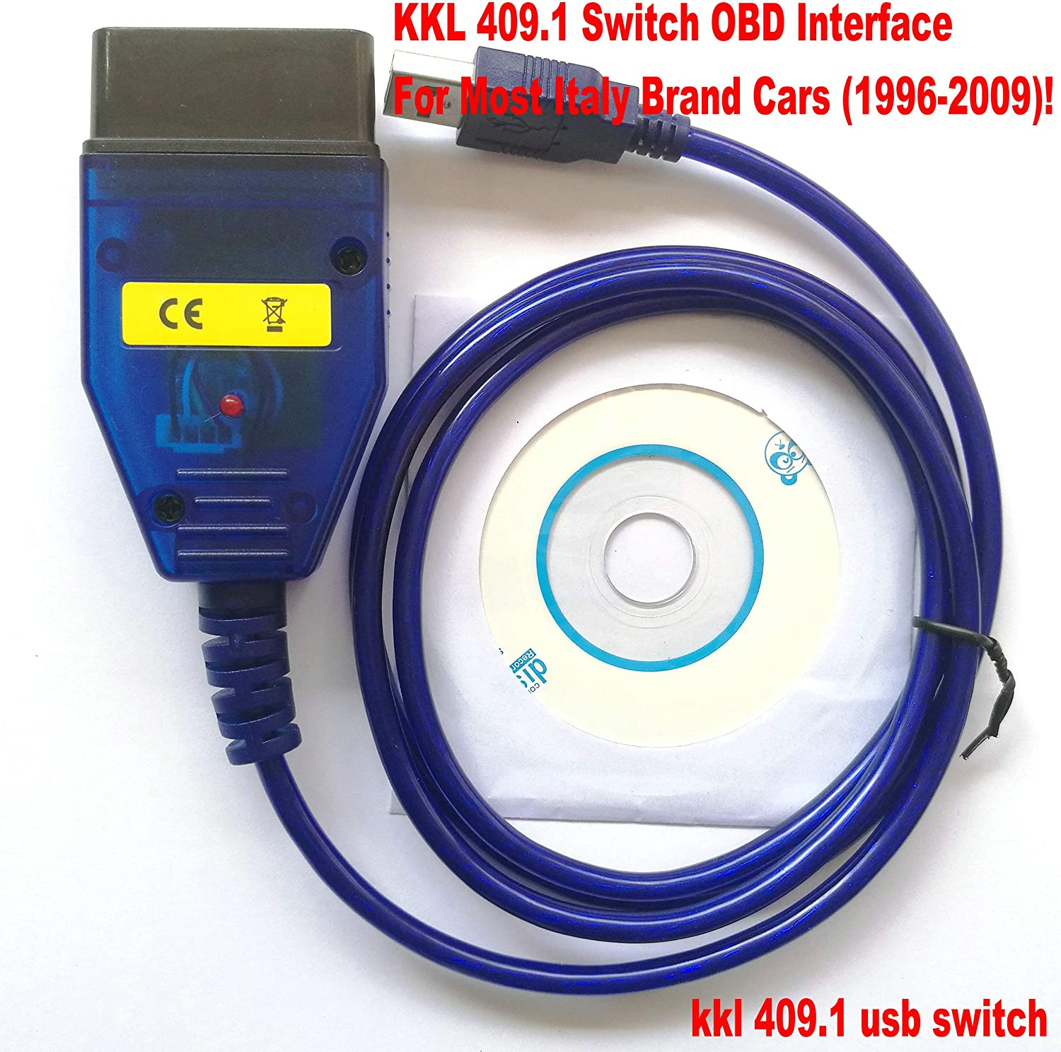 OTKEFDI KKL 409.1 OBD Switch Lead,Supports Kline Cars