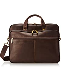 9ece3d53948b Heritage Travelware Colombian Leather Dual Compartment Top Zip 16