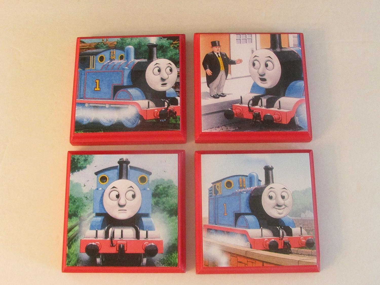 Amazon Com Thomas The Train Room Wall Plaques Set Of 4