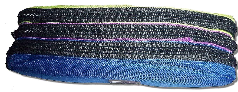 Bleu Viquel Trousse Rectangulaire TriZip Girl Teknik 22 cm x 9 cm x 9 cm