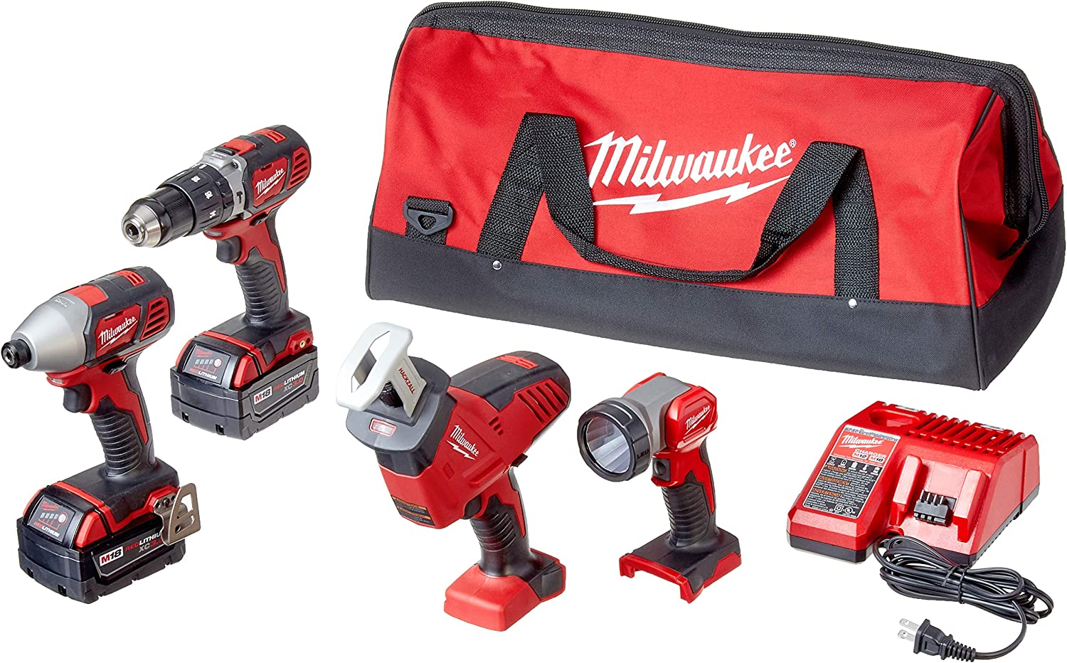 Milwaukee 2695-24 M18 18V Cordless Power Tool Combo Kit