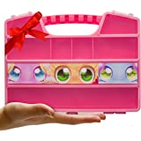 DURABLE FIGURES CASE ORGANIZER BOX  Fits Up to 50 Mini Colleggtibles Eggs Toys Figurines, Miniature Characters Or Tiny figure  Large Compartments  Carrying Case Bin With Handle by Ash Brand