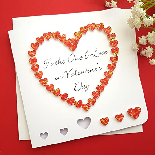 Handmade To The One I Love Valentines Card 3d Red Heart Wife