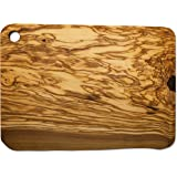 Large Cutting Board for Food Preparation and Presentation - Premium Natural Olive Wood Chopping Board Made in Italy