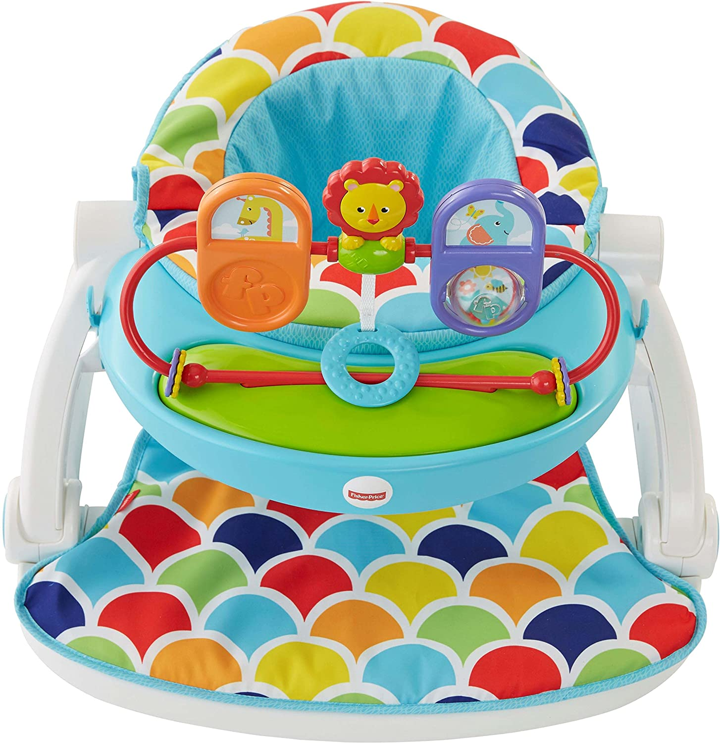 Fisher-Price Sit-Me-Up Floor Seat with Toy Tray FTY00