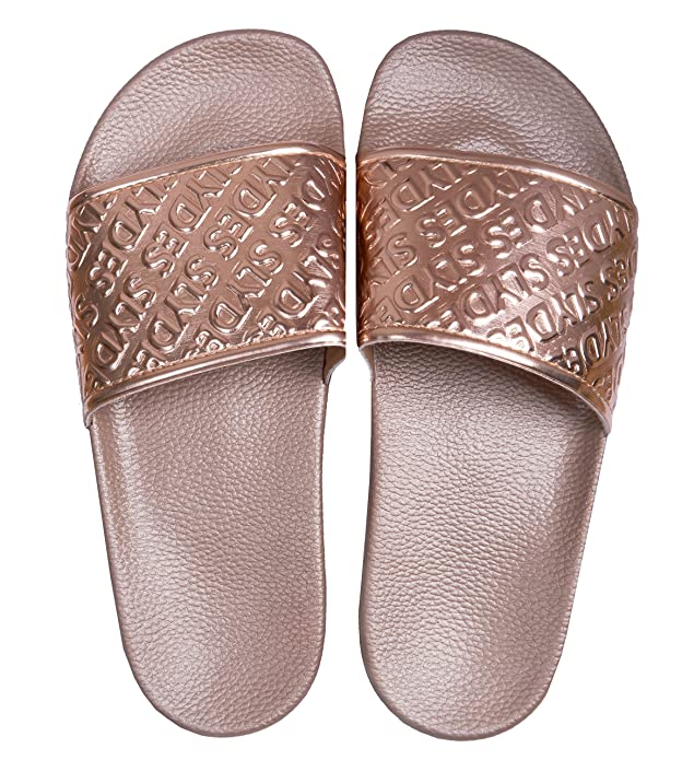 abe83b505 Slydes Chance Rose Gold Sliders for Women  Amazon.co.uk  Shoes   Bags