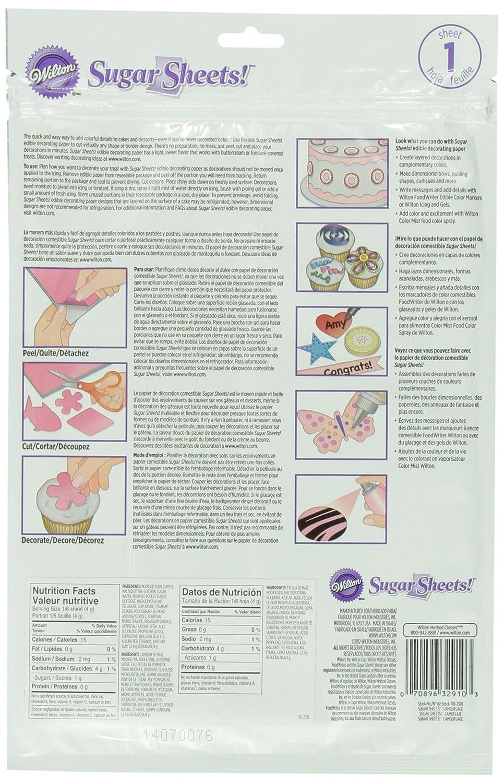 Amazon.com: Wilton 710-2910 Camouflage Sugar Sheets for Food ...