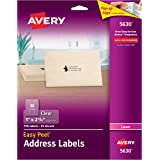"""Avery Matte Frosted Clear Address Labels for Laser Printers, 1"""" x 2-5/8"""", 750 Labels (5630)"""