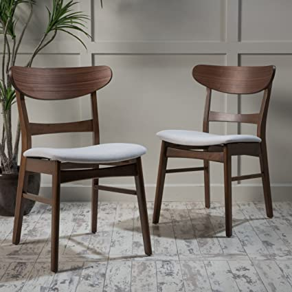 Helen Mid Century Modern Dining Chair (Set of 2) (Light Beige w/ & Amazon.com - Helen Mid Century Modern Dining Chair (Set of 2) (Light ...
