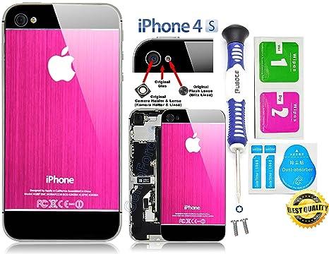 e7fa3597aa1 Gforce75 ✔Premium Elegangter gris rosa/negro aluminio cepillado para  iPhone 4S