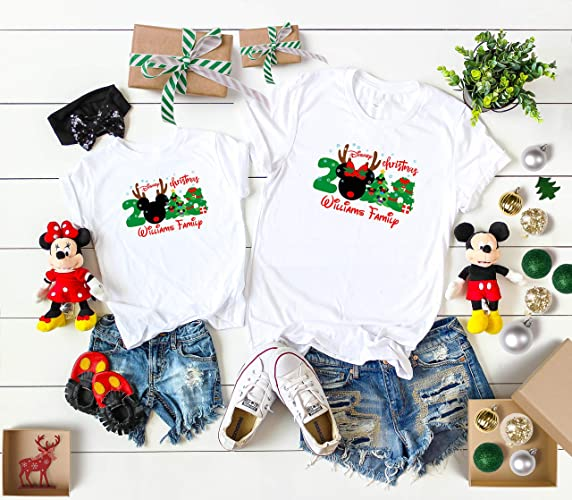 Matching Christmas Shirts For Family.Disney Christmas 2018 Matching Family Shirts With Mickey Xmas Disney Family Matching Shirts Minnie Shirts From 6 Months Up To Adults 4xl