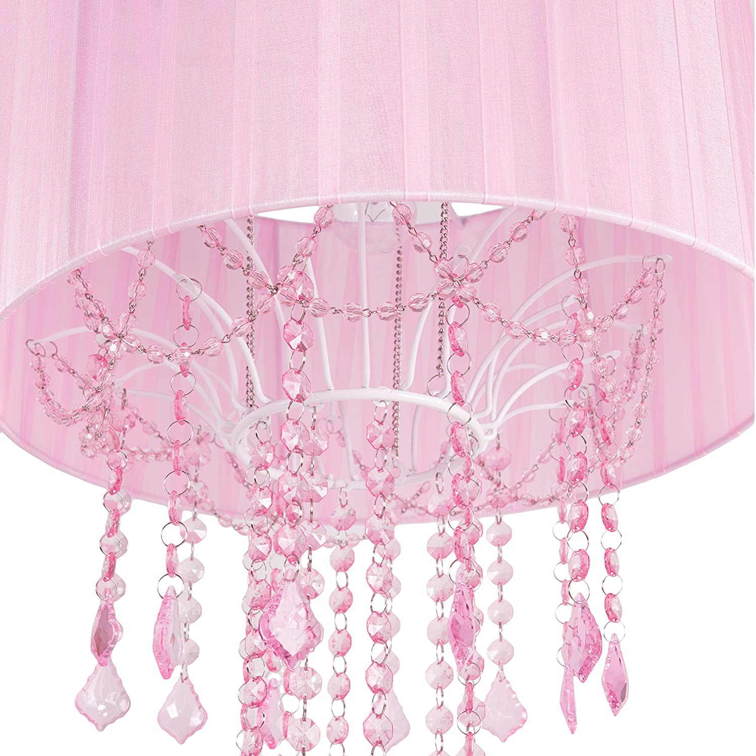 Amazon.com: Tadpoles One Bulb Shaded Chandelier, Pink: Baby
