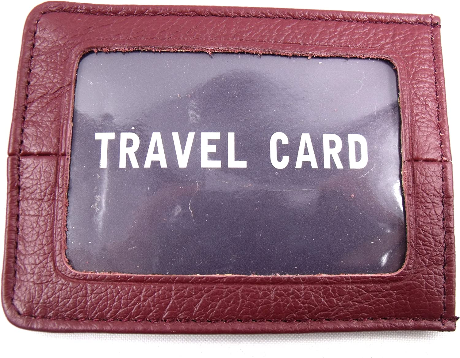 The Leather Emporium Mens Sturdy Travel Bus Pass Id Oyster Credit Card Holder