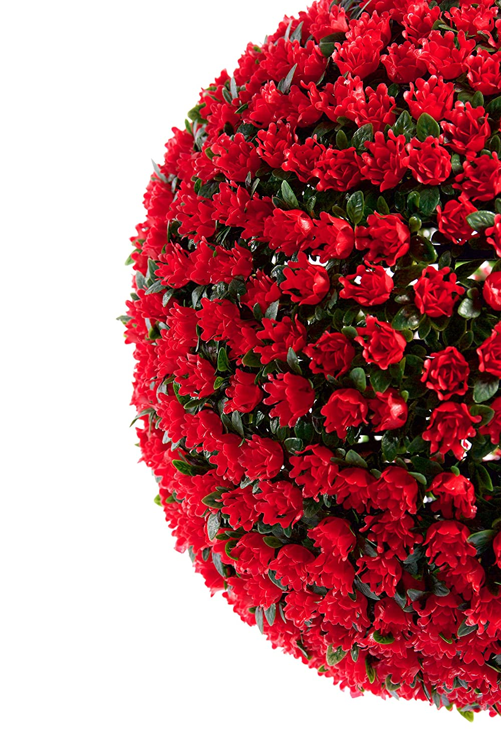 TM 38cm Red Rose Topiary Hanging Flower Balls **UV Fade Protected** Best Artificial 2