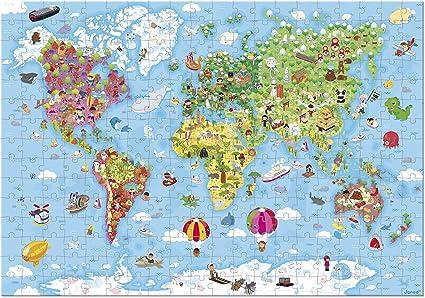 J02775 Hat Giant World Map Puzzle Box