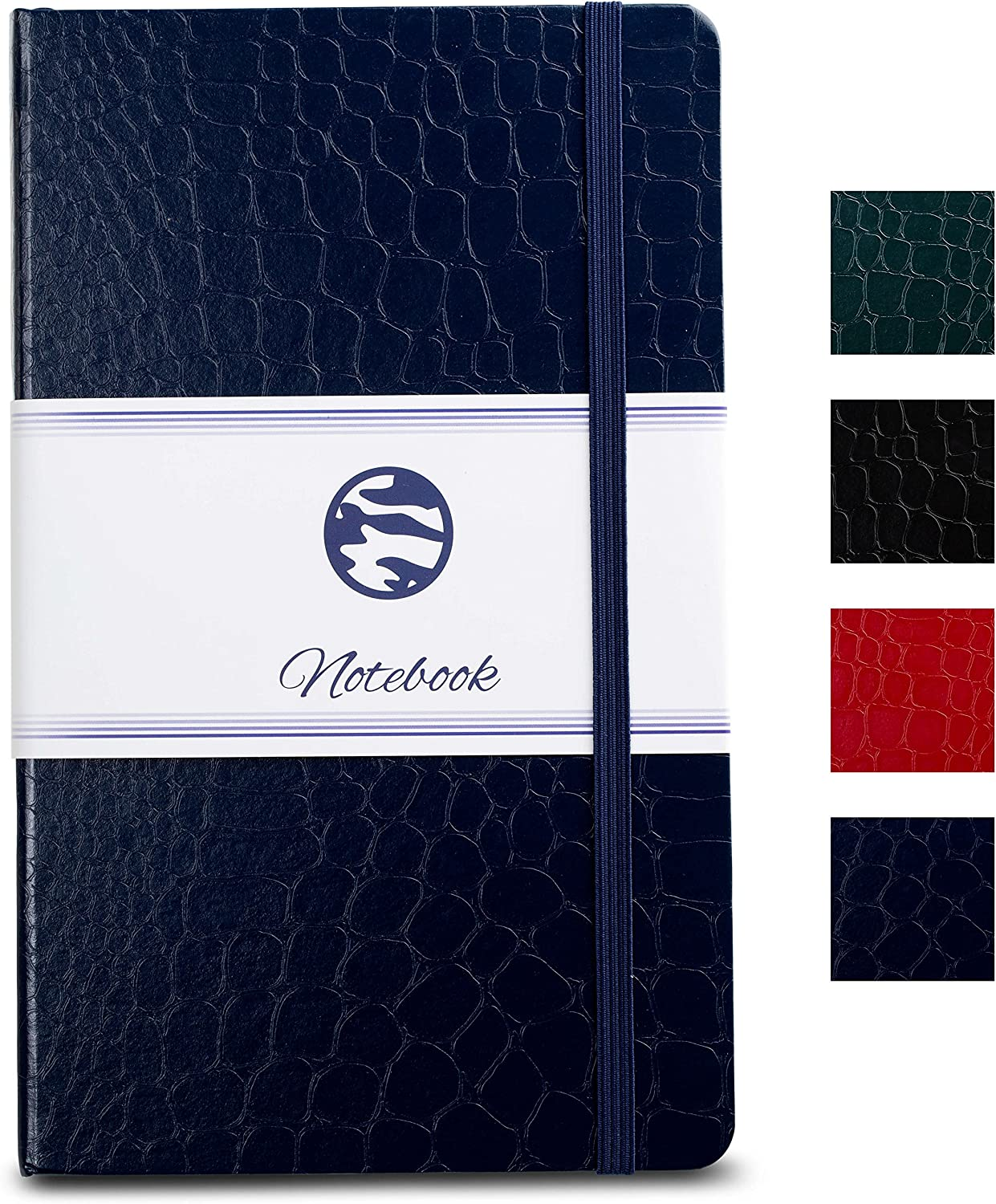 Journal | Notebook Hardcover - Beautiful Crocodile Faux Leather Textured size A5 (8.25 x 5