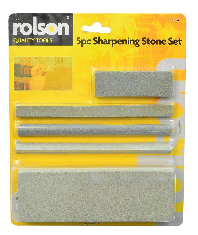 Rolson Sharpening Stone Set - 5 Pieces 24129