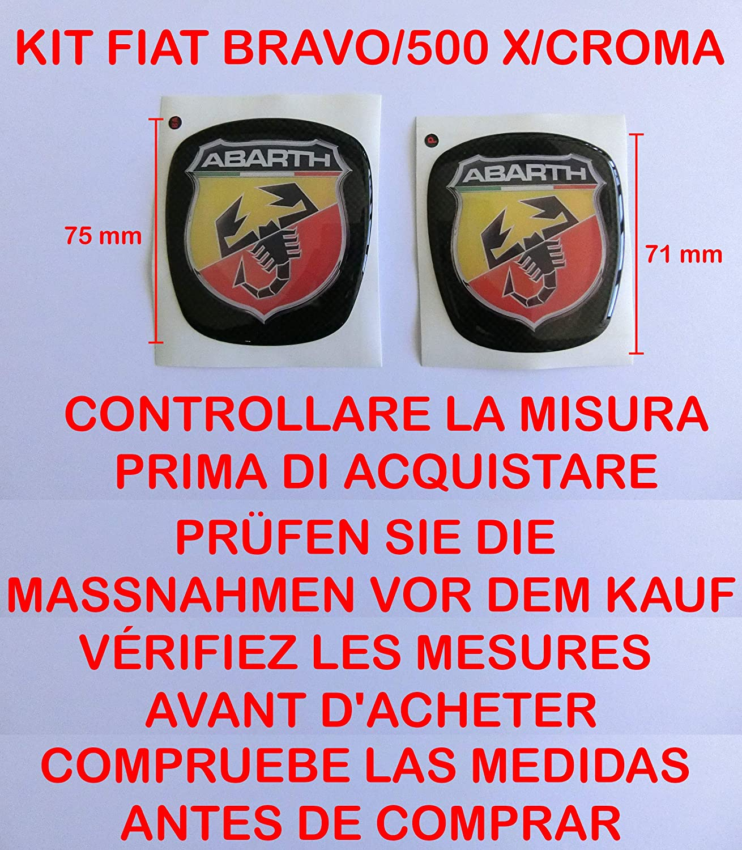 GTBTUNING Bravo Abarth Kit Adesivo Stickers Logo Stemma Badge Fiat