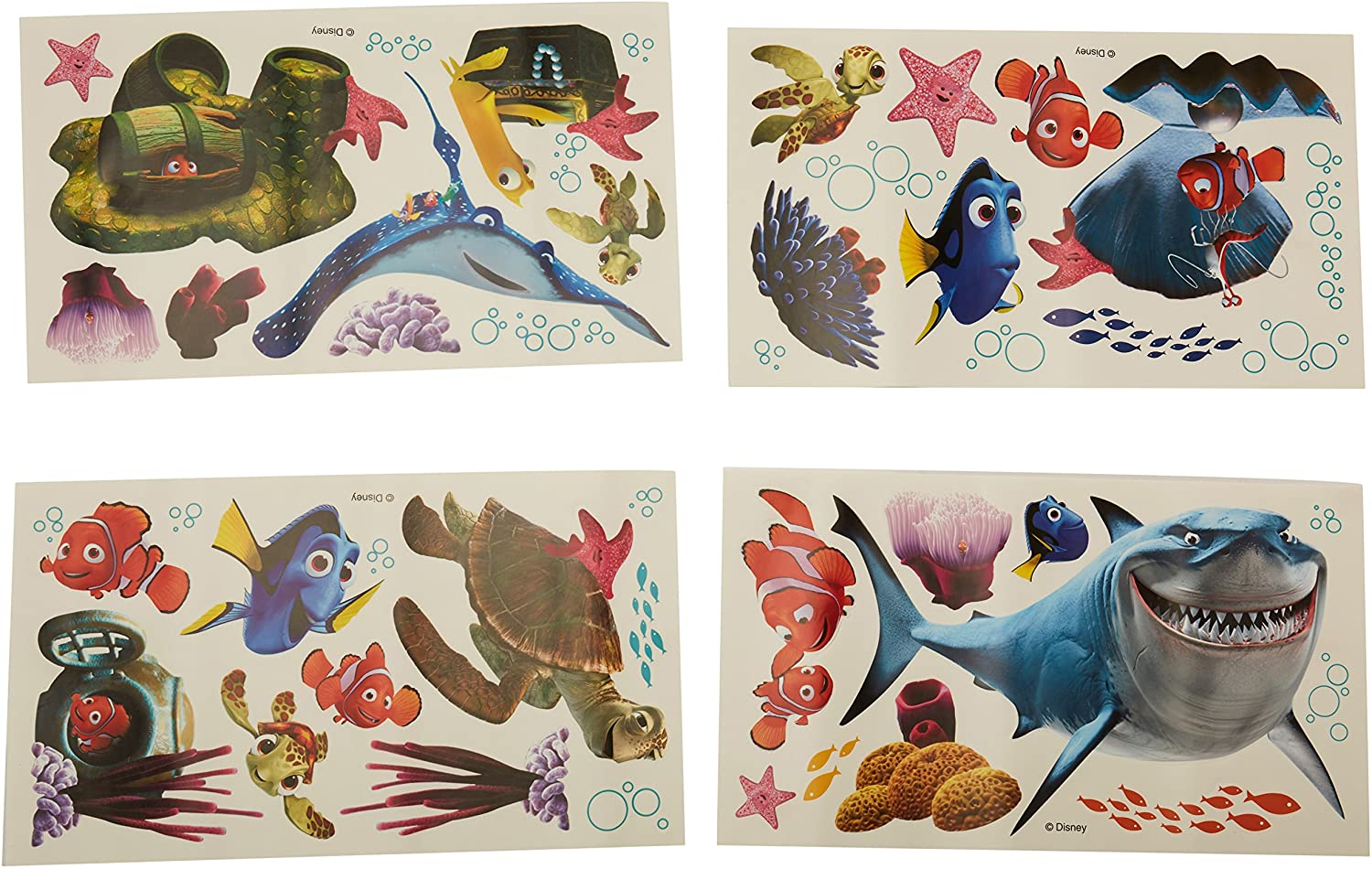 """FINDING DORY AND NEMO GIANT WALL DECALS 39/"""" Disney Stickers Kids Bathroom Decor"""