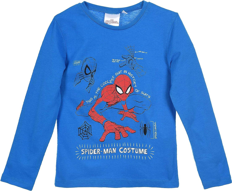 Spiderman Bambino Maglietta a Maniche Lunga