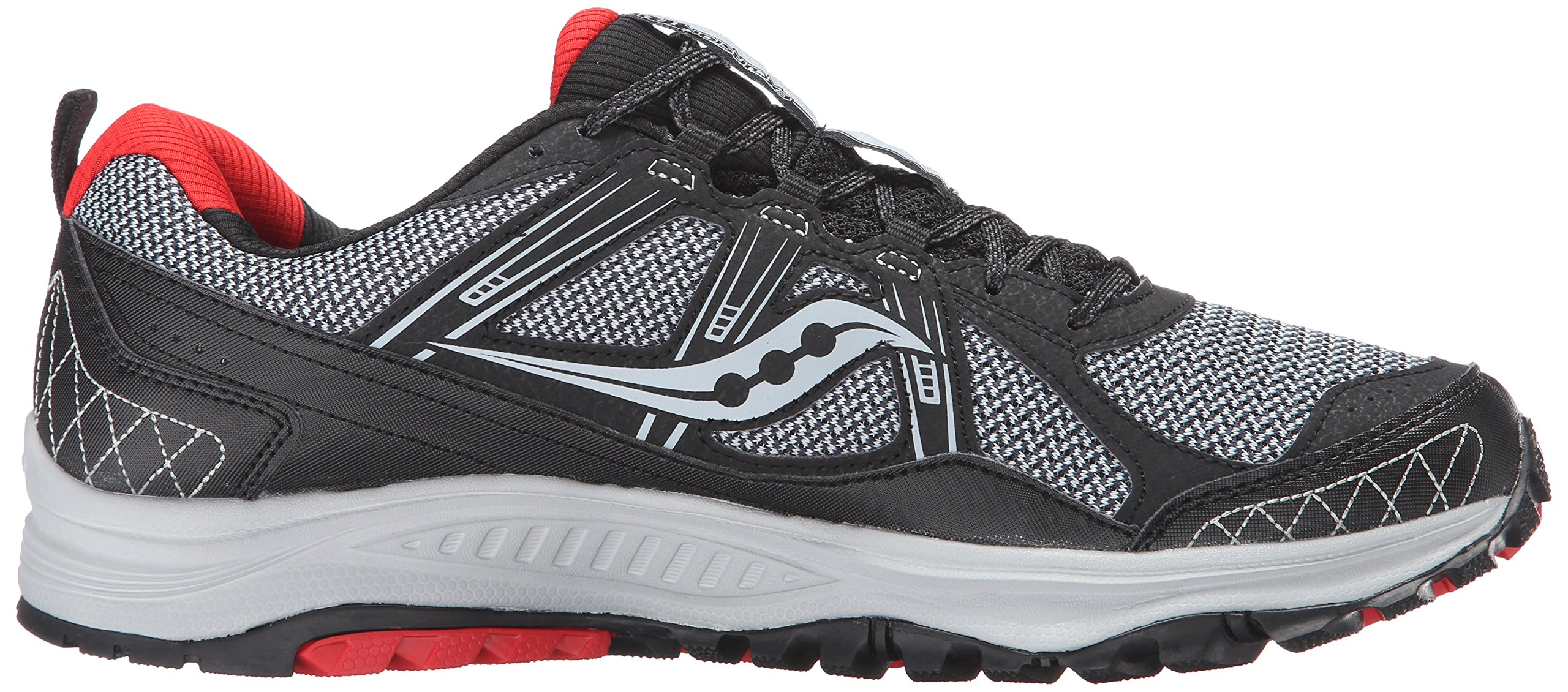 Saucony Men's Grid Excursion TR10 Running Shoe, Grey/Black/Red, 8 M US by Saucony (Image #11)