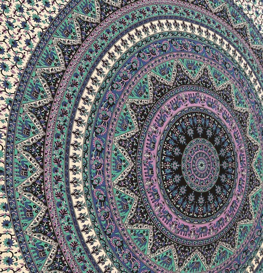 Amazoncom Large Indian Mandala Tapestry Hippie Hippy