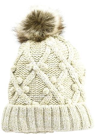 Womens Popcorn Fur Beanie, Off-White (Cream), One Size (Manufacturer Size: 1) Dorothy Perkins