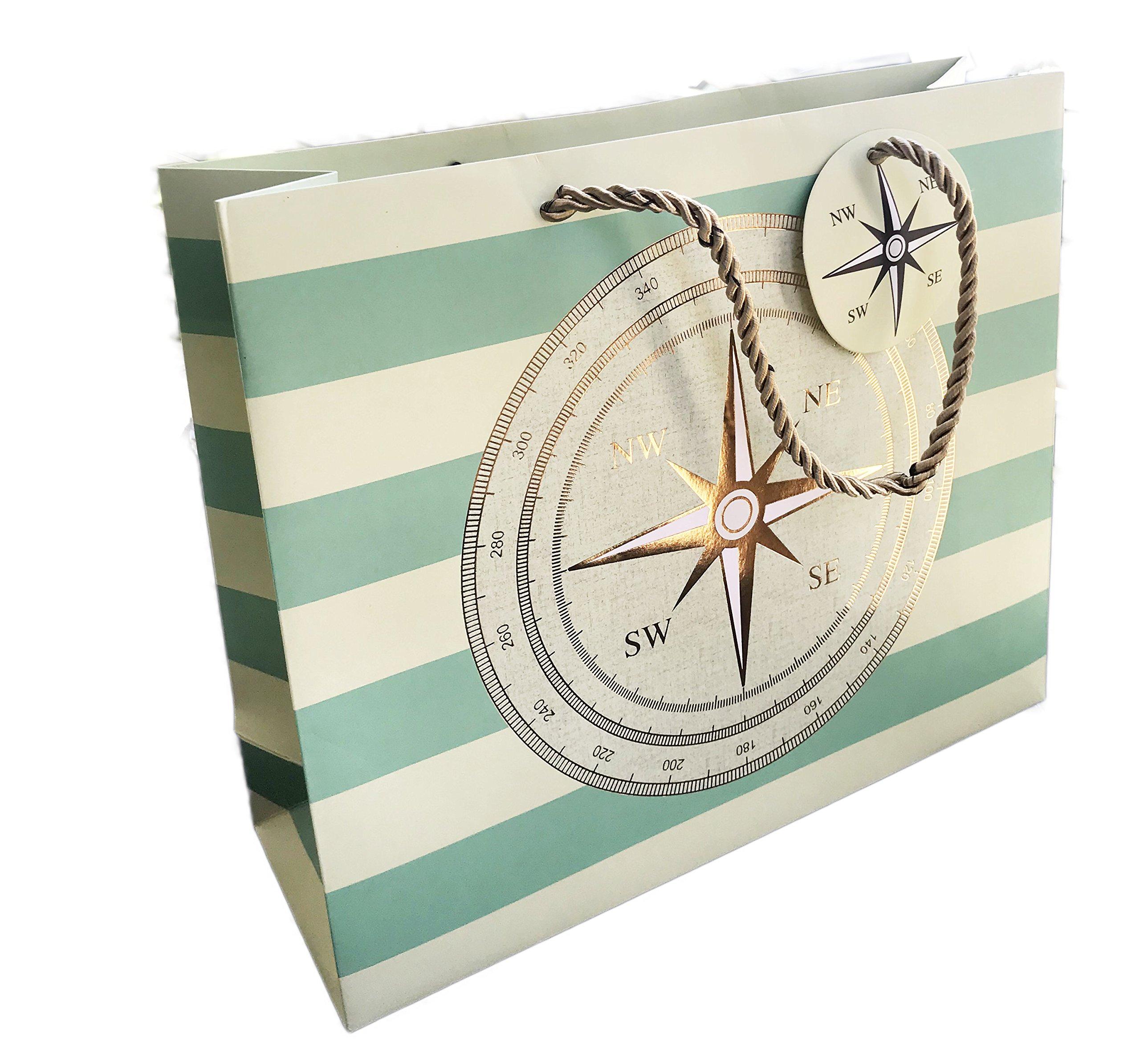World Traveler Novelty Party Celebration Gift Bag (Compass)