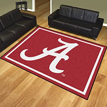 Amazon Com University Of Alabama 8 X 10 Logo Area Rug Sports