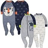 Gerber Clothing Baby-Boys 4-Pack Sleep 'N Play