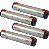 """GLS Audio 1/4"""" Locking Coupler Female Dual TS and TRS Plug Jack Adapter - 1/4 inch to 1/4 inch Barrel Dual Stereo and Mono - 4 Pack"""