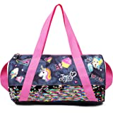 9a5f6774d5b Nickelodeon JoJo Siwa Pink Denim Sequin Unicorn Sticker Duffle Bag for Girls