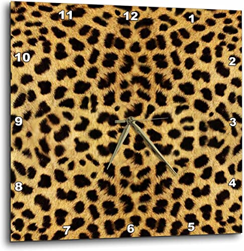 3dRose DPP_20340_3 Cheetah Animal Print Wall Clock, 15 by 15-Inch