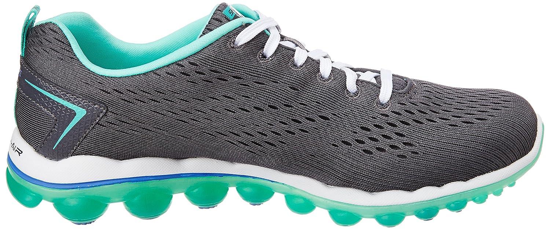 Skechers Sport Women's Skech Air Run High Fashion Sneaker B00L337A3S 7 B(M) US|Charcoal Mesh/Turquoise Trim