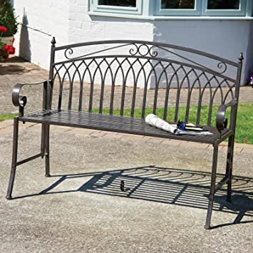 Fine Garden Bench Folding Metal Garden Bench In Antique Bronze Finish Folds Flat For Easy Storage Ocoug Best Dining Table And Chair Ideas Images Ocougorg