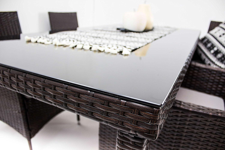 Amazon.de: AVANTI TRENDSTORE - Arona - Gartenmöbel-Set mit 4 Stühlen ...