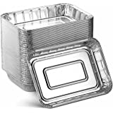 Aluminum Foil Grill Drip Pans - Bulk Pack of Durable Grill Trays – Disposable BBQ Grease Pans – Compatible with Weber Grills