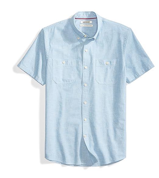 786fa0aeb6 Amazon Brand - Goodthreads Men's Standard-Fit Short-Sleeve Chambray Shirt