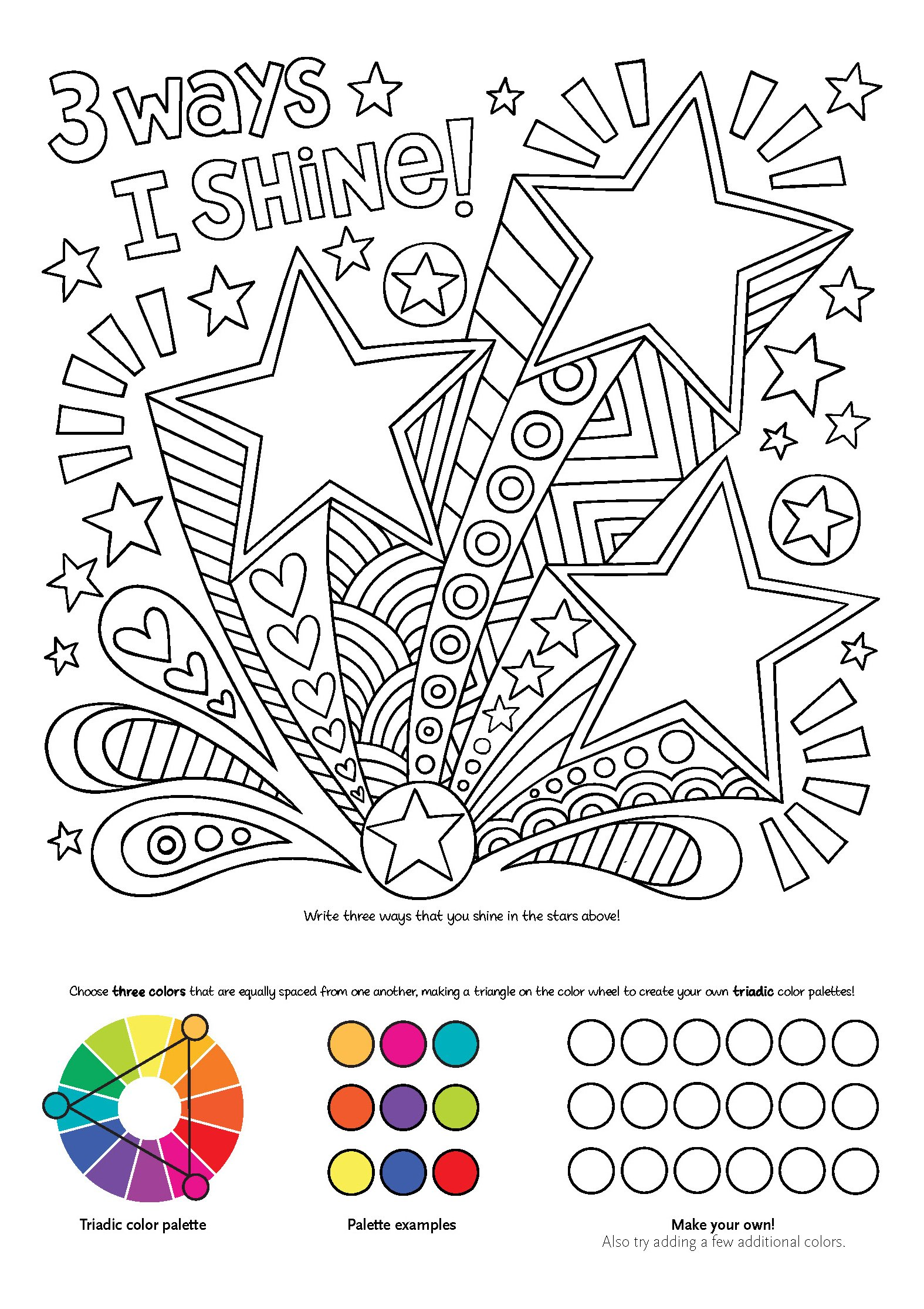 Notebook Doodles Superstar Coloring Activity Book Design Originals 32 Inspiring Designs Beginner Friendly Relaxing Empowering Art Activities For