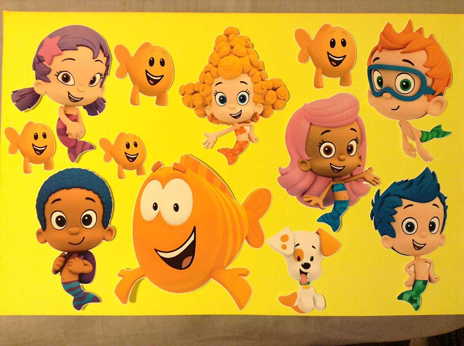 bubble guppies set of 8 removable wall stickers 6 bubble guppies set of 8 removable wall stickers 6