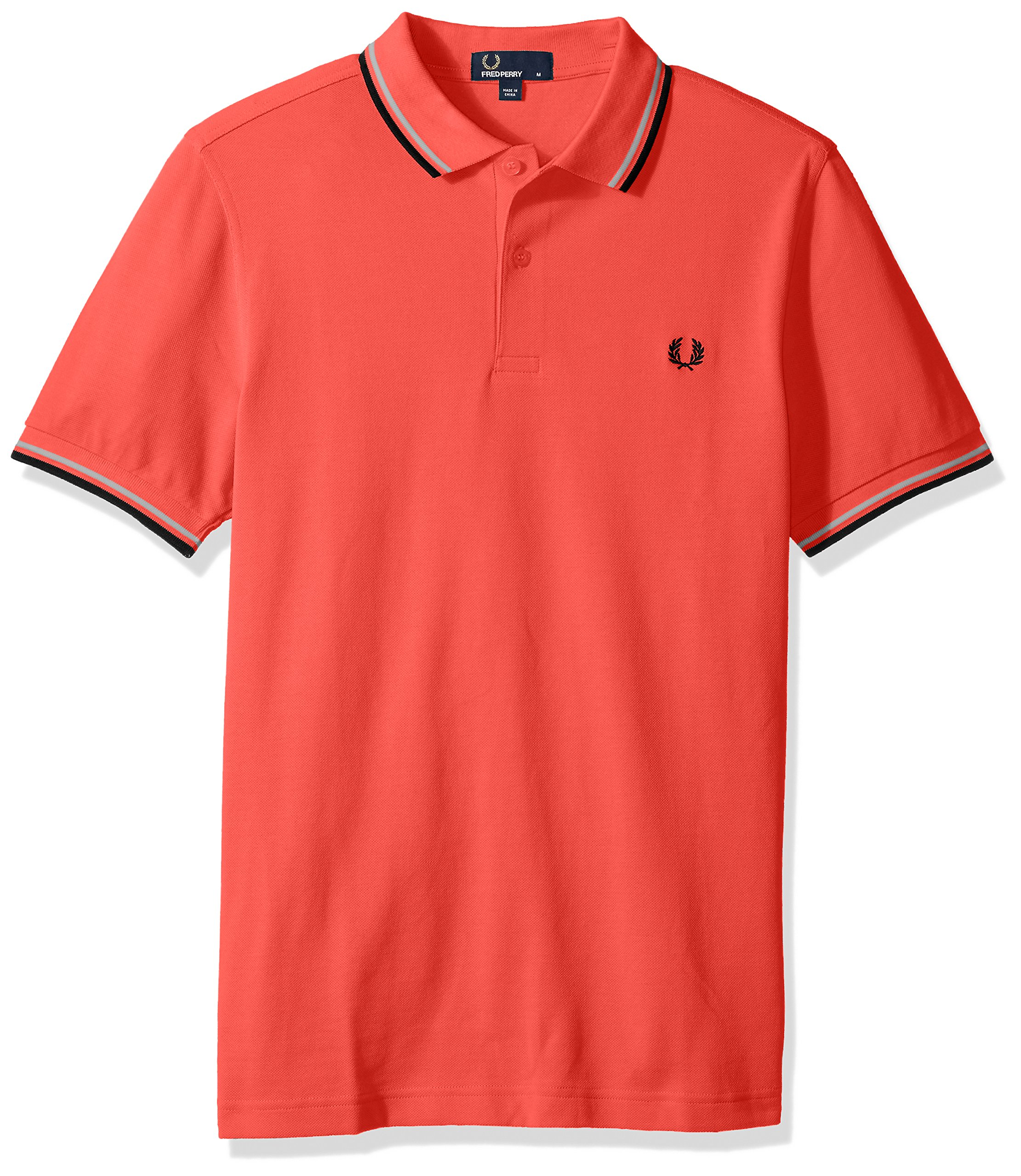 Fred Perry Men's Twin Tipped Polo Shirt, Trpred/SW/NVY, X-Small