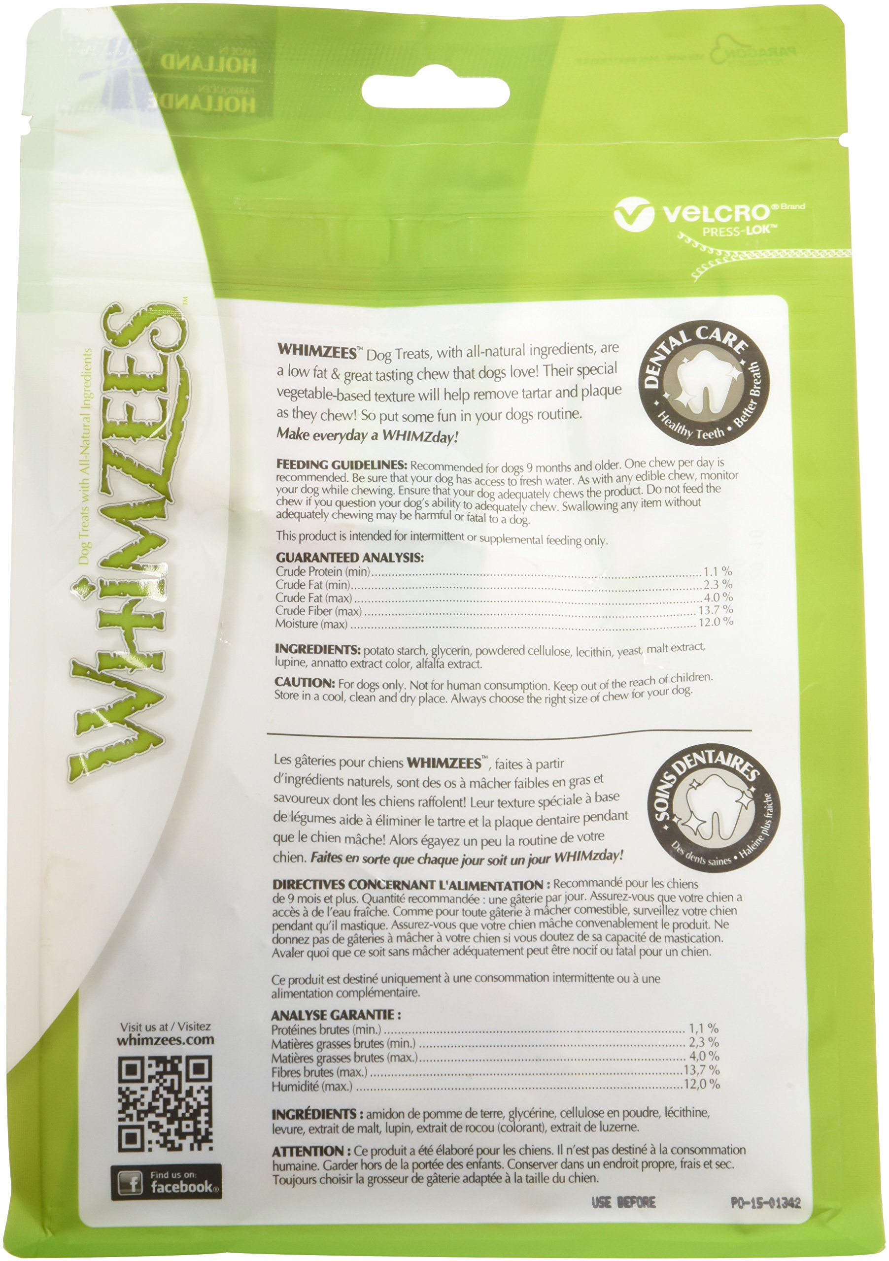 Whimzees Whz300 113 Count Toothbrush Star Value Bag Doggie Dental Chews, Xx-Small 12.7Oz by Whimzees