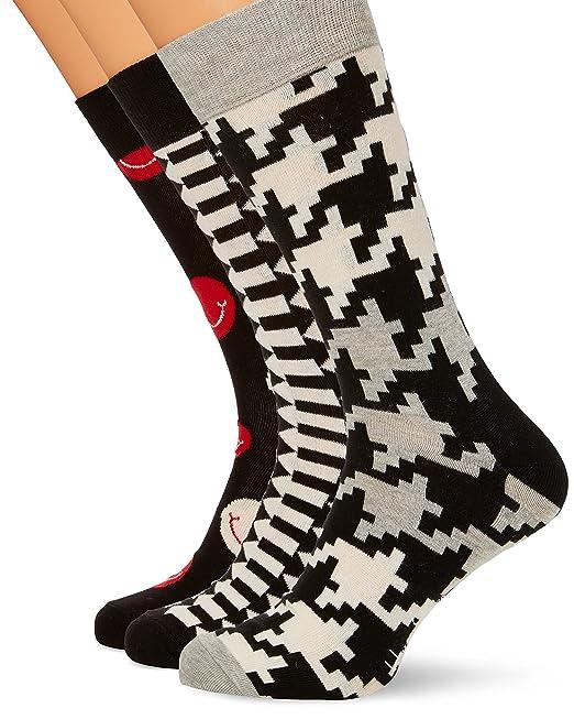 offerta speciale migliore vendita 100% di alta qualità Happy Socks 3-Pack Calzini, Multicolore (Multicolour 600), 41-44 ...