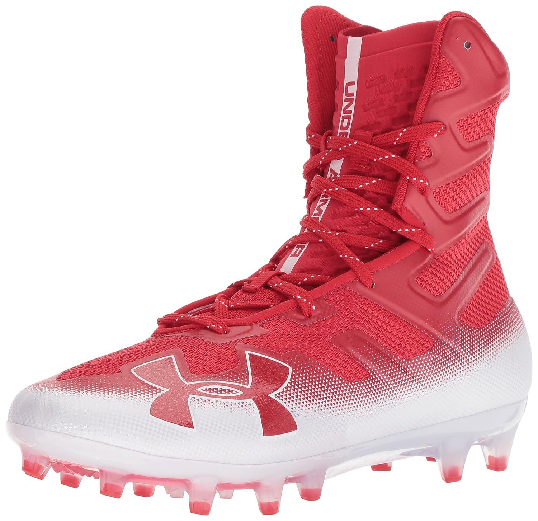 [アンダーアーマー] Men's Highlight Mc High-Top Mesh Football Shoe B077V571HC Red (601)/White 7 M US 7 M US|Red (601)/White