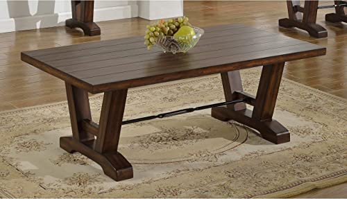 Best Master Furniture Hazelnut Oak 48-inch x 26-inch x 18-inch Coffee Table
